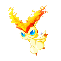 Victini by crossedstar