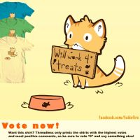 Threadless - Will Work 4 Treats by fablefire
