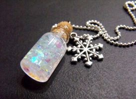 Snow in a Bottle Pendent by 2littleKisses