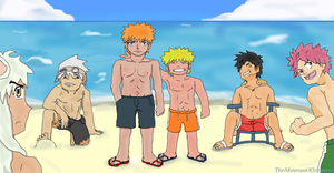 Beach Boys ~ Anime Crossover by TheMuseumOfJeanette