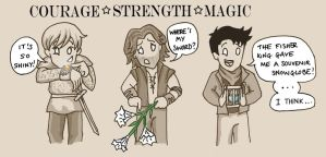 COURAGE - STRENGTH - MAGIC by blackbirdrose