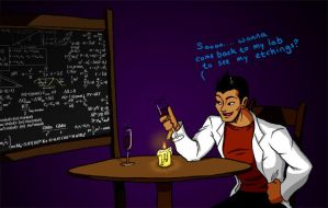 Choi LOVES Science by SailorAnime