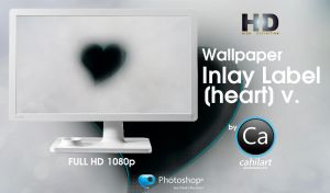 Wallpaper Inlay Label heart by CaHilART
