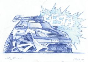 Ford Fiesta - Cartoon by grote-design