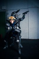 Appleseed  Deunan and Briareos II by Hime-sOph