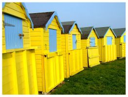 Beach Huts at Bognor by LorrieWhittington
