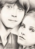 Ron and Hermione by ArteDiAmore