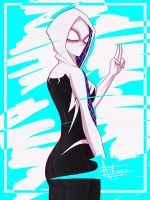 Gwen Stacy - Spiderverse by CRAZZEFFECT