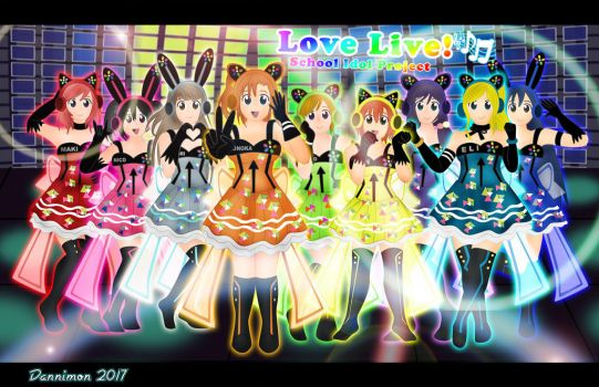 Love Live Cyber Group by DannimonDesigns