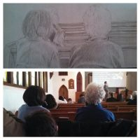 Drawing in Church by LHPegg