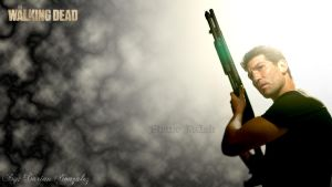 Shane Walsh Background from The Walking Dead by eminencetuts