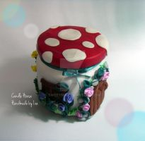 Candle House Handmade with polymer clay by SweetIva