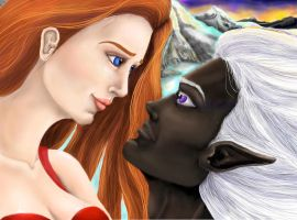 Drizzt and Catti-Brie by guen20