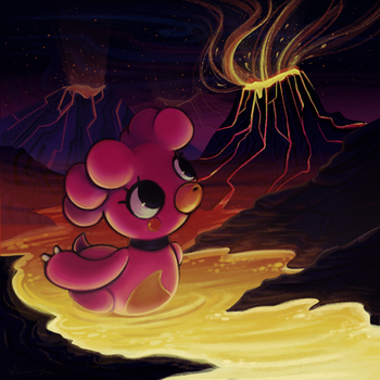 Lava off a magby's back by GloriaFelix