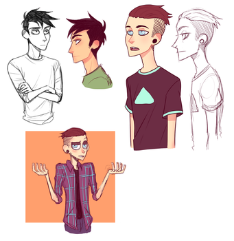 Nick and David Sketches by carau