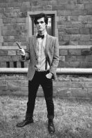 Eleventh Doctor BW by MisterTimeLord