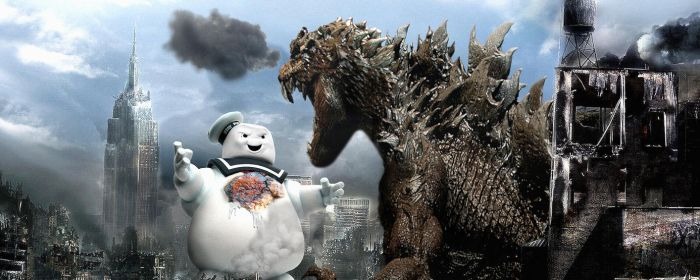 Godzilla vs StayPuft Duel Monitor by FNHot