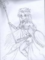 Palutena Kid icarus fan art by nevarkun