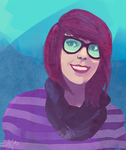Speed Paint- Me by tabby-like-a-cat