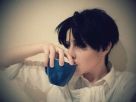 Tea drinking Heichou by silkybean