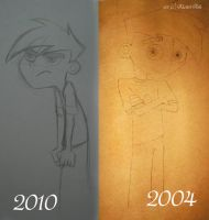 Danny Fenton: Then and Now by KicsterAsh