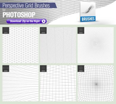 Pixelstains Perspective Grid Brushes by pixelstains