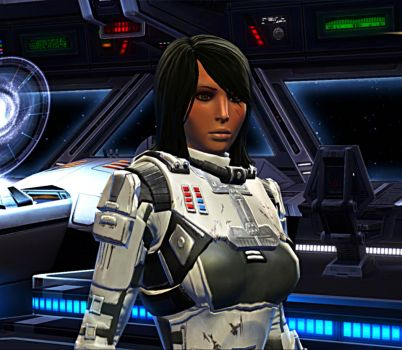 Swtor Agent Ahlyza (Hair Down) by Noxious91