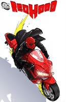 Red Hood- Motorcycle- color by pikapikaichigo