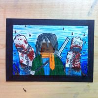 LEGO Michonne sketchcard by thesometimers