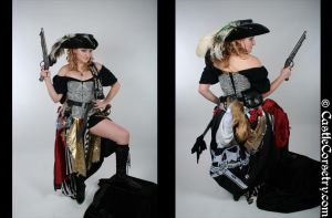 Pirate Wench Costume by CastleCorsetry
