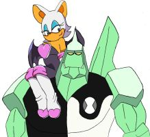 Rouge and Diamondhead by BigJohnnyCool
