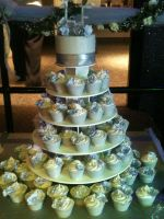 Wedding Cupcake Display by simplysweets