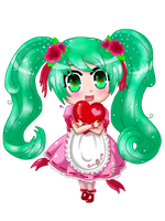 Rose Dew Miku Hatsune by TropicalSnowflake