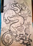 Japanese Dragon Sleeve Tattoo by paintball0531