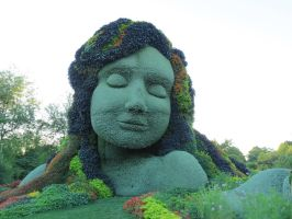 Mosaic Living Sculpture - Mother Earth by Kitteh-Pawz