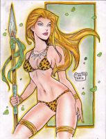'Cartoon' Jungle Girl (#3) by Rodel Martin by VMIFerrari