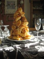 Croquembouche by Blackdragon-sama