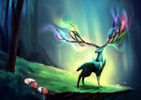 Pokemon: Xerneas by E-tane