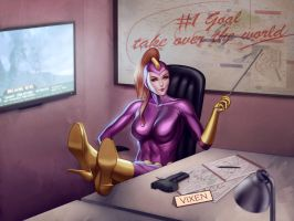 Purple Vixen in the Command Center by dangerfan
