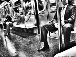 Subway black and white by Ashleigh07Art
