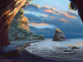 Cathedral Cove by Lyraina