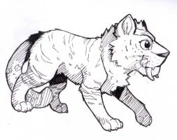 The Croods Tiger sketch by Nell-of-Shadows