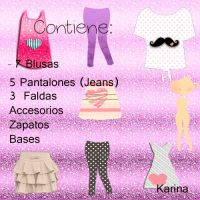 Pack de Ropa para doll by Karistoessel