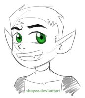 3 Min Beast Boy Sketch by Shoyzz