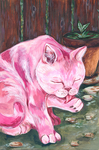 pink kitty by sbeeart