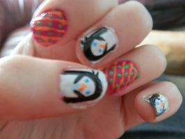 penguin nail design by Chyliethecrazy1
