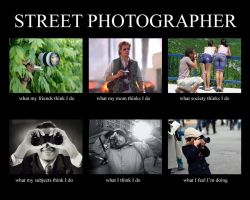Street Photographer: What they think I do by dannyst