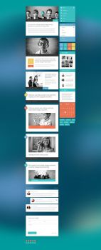 Modern Touch UI Kit: Blogging Page by PixelKitCom