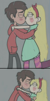 Star and Marco first kiss by JackieGirl99