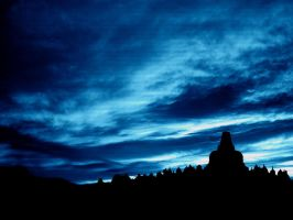 Borobudur in Dark Emotion by indonesia